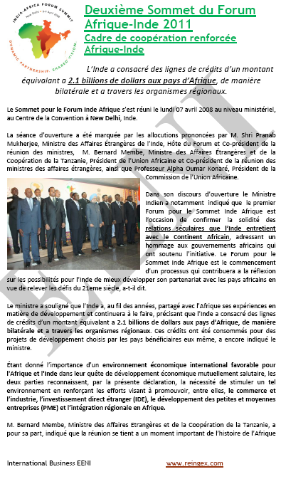 Commerce international Inde-Afrique