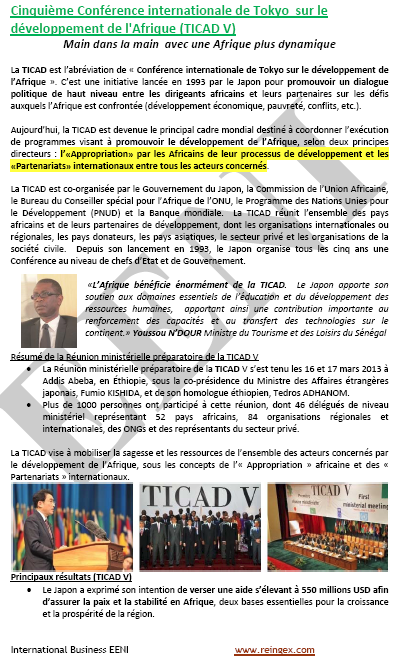 Commerce international Afrique-Japon