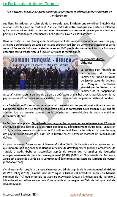 Doctorat FOAD Online : Commerce international Afrique-Turquie