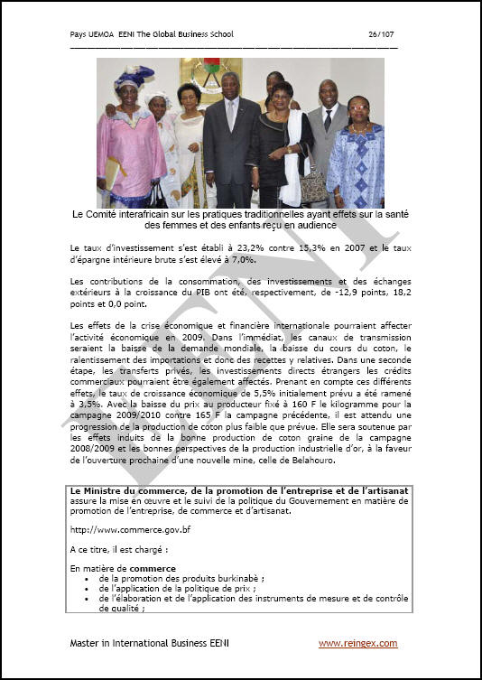 Burkina Faso Affaires