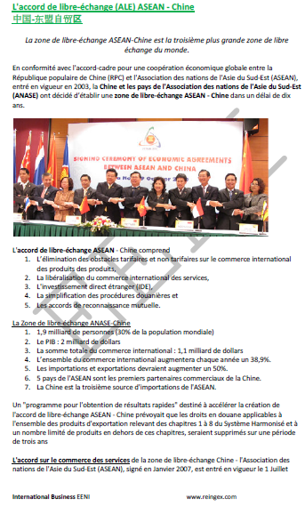 ASEAN Chine accord