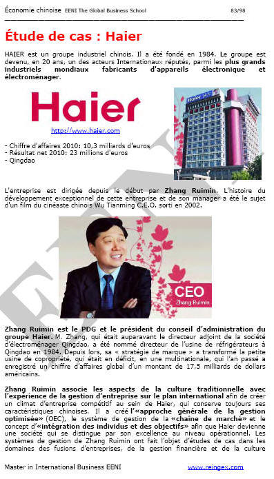 Chine Haier Groupe