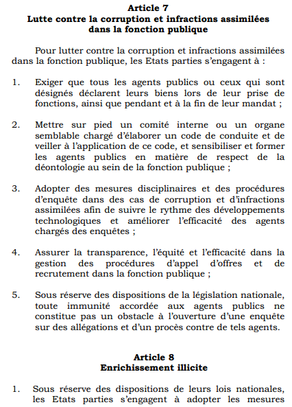 Convention Union africaine Anticorruption