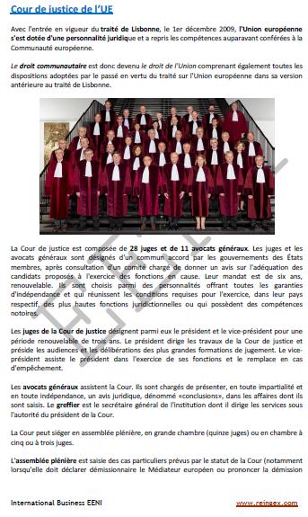 cour de justice européenne