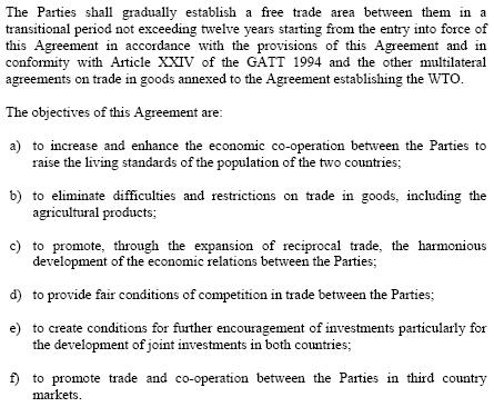 Tratado de libre comercio (TLC) Egipto-Turquía