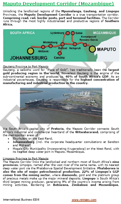 Cours transport : Port de Maputo
