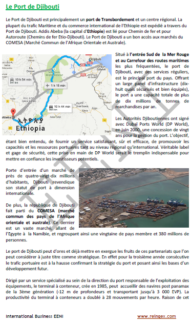 Cours transport : Port de Djibouti