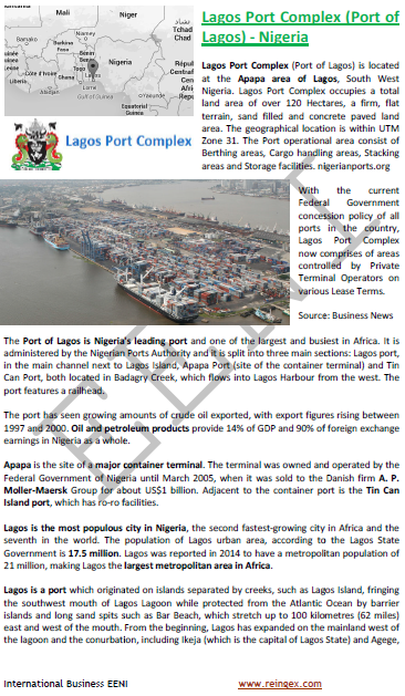 Cours transport : Port de Lagos Nigeria