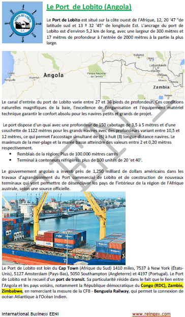 Cours transport : Port de Lobito (Angola)