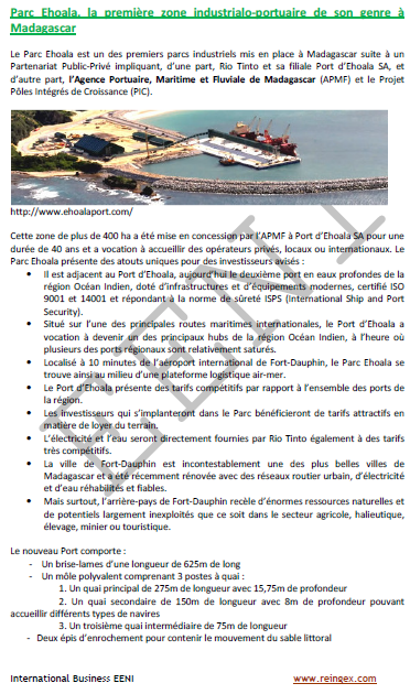 Cours transport : Ports de Madagascar