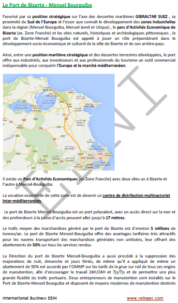 Cours transport : Ports de la Tunisie