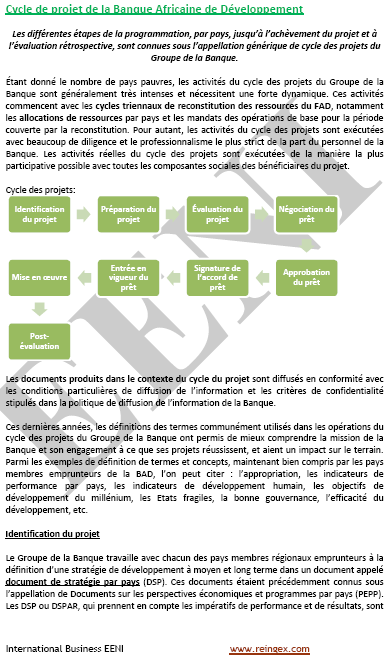 Projets Banque africaine